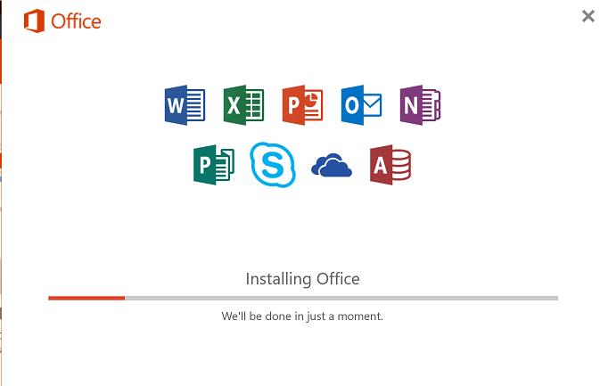 Installing office screen